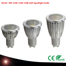 Ultra Bright dimmable 9w 12W 15W 85~265V GU10 LED Bulbs Spotlight COB GU10 led Lamp CE/RoHS Warm/Cool White