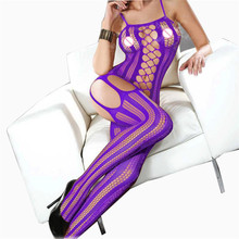 Buy Plus Size Hollow Mesh Baby Doll Sexy Lingerie Hot Open Crotch Erotic Lingerie Sexy Underwear 6 Colors Fishnet Sexy Costumes