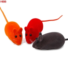 HBB Cute Furry Mouse Cat Kitten Play Toy False Mice Rat Squeak Noise Sound Funny 5 Pc
