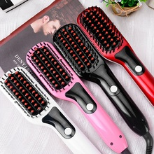 2017 Brand Straightening irons Fast Smoothing hair Brush Electric Magic Straightener professional comb Hair Styling Tools(China)