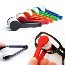 2PCS Random Color!!! New Glasses Sunglasses Eyeglass Spectacles Cleaner Cleaning Brush Wiper Wipe Kit Hot(China)