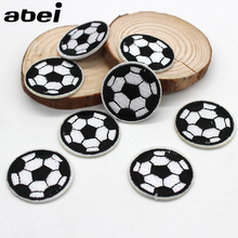 10pcs/lot Iron-on football Patches Top Embroidered Appliques for boys DIY Sewing Patckwork Crafts Clothing Bags Sticker Material