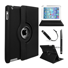 360 Rotating Premium Leather Case Cover For Apple iPad 2 iPad 3 iPad 4 Flip Stand Smart Cover Case w/Auto Wake/Sleep