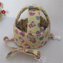 2016 Fashion Bear pattern Anti-collision Protective Hat Soft Comfortable Head Security&Protection Adjustable Baby Helmet T596