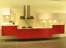 Gloss red kitchen cabinet mdf(China)