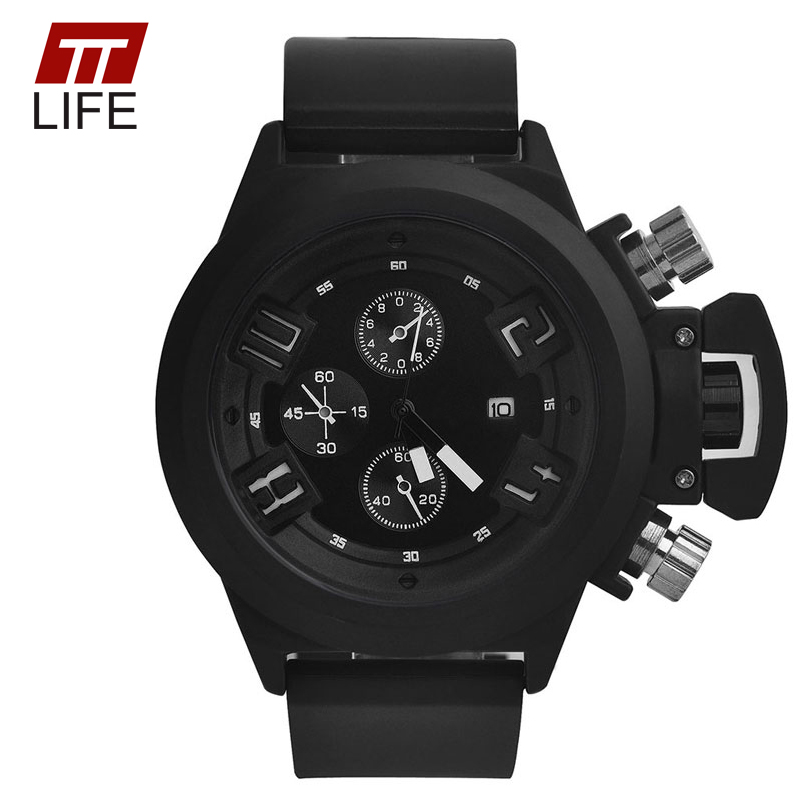 TTLIFE Brand mens watches top brand luxury Sports Watch Men Running Military Wristwatches Dual Time Decoration Three-Eyes<br><br>Aliexpress