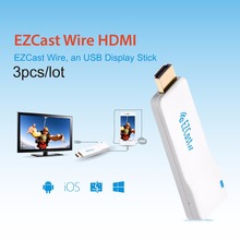 EZCast Wire HDMI USB Display TV Stick Support iOS iPad AirPlay Android Mac Windows Charging Dual Monitor HDMI Cable for Iphone
