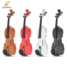3/4 Violin Natural Acoustic Basswood Face Board Violin Aluminium Alloy Tailpiece Musical Instruments with Case Rosin Foam Box(China)