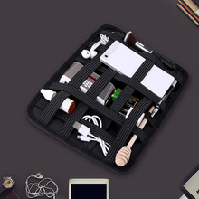 Elastic Organizer Grid-it Storage Bag Rubber Band Organizer USB Data Cable Earphone Wire Pen Power Bank Travel Organizer Bag