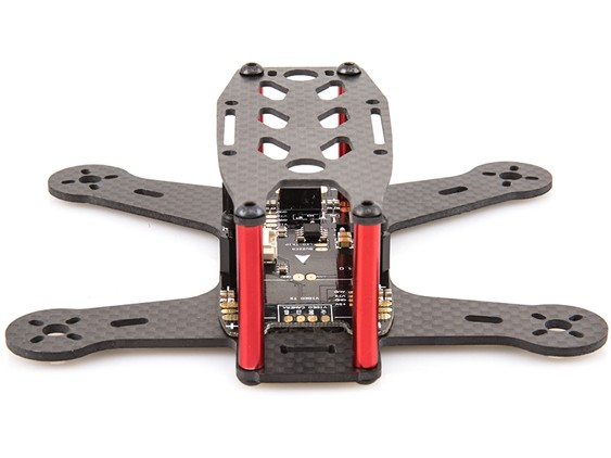 BeeRotor 130 130mm 4-Axis Full Carbon Fiber Racing Mini Quadcopter Frame with PCB Board<br>