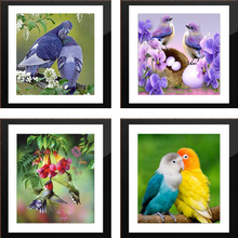 30*30cm Diy 5D Red Bird picture Needlework cross stitch diamond mosaic gift home decor diamond Painting Full diamond embroidery(China)