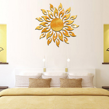 Rushed Modern Design Decor Reflective Diy Mirror Effect 3d Wall Stickers Home Decoration Wall Art(China)