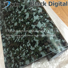 Premium quality Black Digital Camo Vinyl Sticker for car body decoration Digital Camouflage Vinyl Black Camouflage Sticker