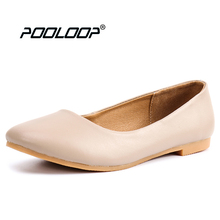 2017 New Handmade Women Flats Genuine Leather Oxfords Shoes Woman Fashion Ballets Flats Casual Moccasins For Women Sapatos Mujer
