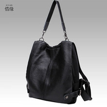 Backpack Nautral Soft Real Leather Backpacks Genuine First Layer Cow Leather Top Layer Cowhide Women Backpack Tote Bags(China)