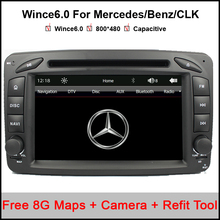 2 Din 7 Inch Car DVD Player For Mercedes/Benz/CLK/W209/W203/W168/W208/W463/W170/Vaneo/Viano/Vito/E210/C208 Canbus FM GPS BT Map(China)