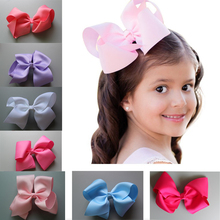 10pcs/lot 5 Inch Big twist Hair Bow   With Clip Girls Solid Ribbon Hair Bows Boutique Hair Clip Hairpin kids Hair Accessories