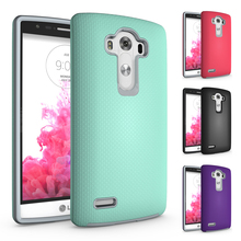 2 in 1 Shockproof Armor Coque LG G4 Case PC + TPU Hybrid Case LG G4 Cover Soft Rubber & PC Hard Phone Case For LG G4 LGG4 Fundas