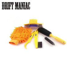 Buy Bicycle Cleaning Tool Kit Mountain Bike Tire Brush Corner Gloves Wheel Cleaning Bike tools Cycling Tools Set for $9.49 in AliExpress store