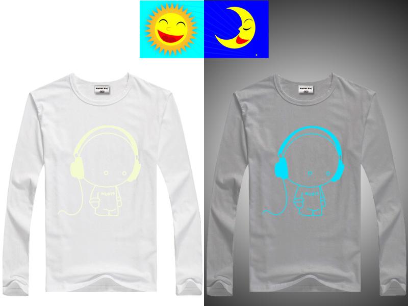 DMDM PIG Luminous T-Shirts For Girls Boys Long Sleeves Tops Kids Clothes Baby TShirt Children Toddler T Shirt 10 11 13 14 Years 5