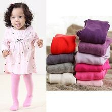 candy color Newborn Baby Girls tights Toddler Kids Little Girl clothing Kintting Stockings Children Pantyhose 18-24Months(China)