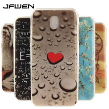 JFWEN For Coque Samsung Galaxy J7 2017 Case Luxury Painted Pattern IMD Soft TPU Phone Back Case For Samsung J7 2017 J730 Case(China)