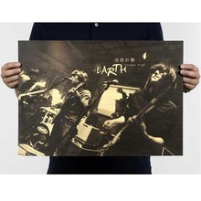 "Escape Plan Band/Pop Music""Vintage Poster Retro Kraft Paper Posters Bar Cafe Interior Decoration Painting Movie Poster 51*35.5CM"