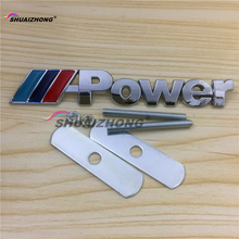 Free shipping High quality Car ///Power ///M M POWER front Hood Grille Badge logo decoration car styling Auto accessories(China)