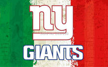 NY Giants of oil painting Flag 3x5FT NFL banner 100D 150X90CM Polyester brass grommets custom66, Free Shipping(China)