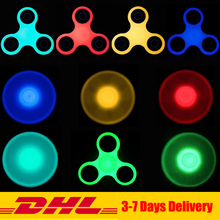 Buy 20PCS/Lot DHL Colorful Fidget Tri-Spinner Glow Dark Autism ADHD Hand Spinner Anti Stress Fidget Toys for $65.00 in AliExpress store