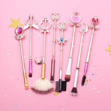 Free shipping 2 style sailor moon Cosmetic brush Makeup Brushes Set Tools kit Eye Liner Shader natural-synthetic hair(China)