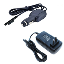 "2in1 EU/US Plug 12V 2.58A AC DC Home Charger + Car Charge Power Charging Adapter For Microsoft Surface Pro 3 Pro3 12"" Tablet(China)"
