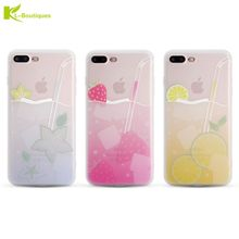 Fashion Summer Drink Soft Case for iPhone 6 6S 7 Plus Colorful Lemon Strawberry Starfruit Fruit Juicy Silicone Back Phone Cover