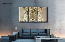 The Nordic sitting room sofa setting wall decoration Contracted and contemporary restaurant bedroom hung  leopard oil painting