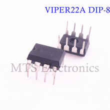 Free Shipping 100pcs/lot VIPER22A VIPER22 DIP8 C/DC Converters Low Power OFF-Line SMPS(China)