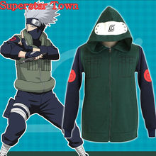 Kakashi Cosplay Jacket Naruto Costume Coat Hoodie Jacket Disfrace Carnav Daily Wear Japanese Anime Clothes Halloween
