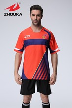2016 Latest Spring survetement football Soccer Jerseys Custom Men's Sportswear uniforms(China)