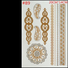 Free shipping fashion products tattoo stickers metallic gold foil waterproof metal tattoo paste wholesale fashionTemporary tatto(China)