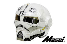 Personality motorcycle helmet male iron 610 man retro the high-end off-road motorcycle ghost white yellow Genuine(China)