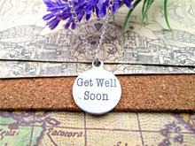 "Fashion stainless steel necklace ""get well soon"" Charms Pendant necklace jewelry Gift more style for choosing"