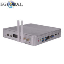 Eglobal Cheapest Fanless Intel Core i3 7100U Core i5 7200U Mini PC Desktop Computer Windows 10 Graphics