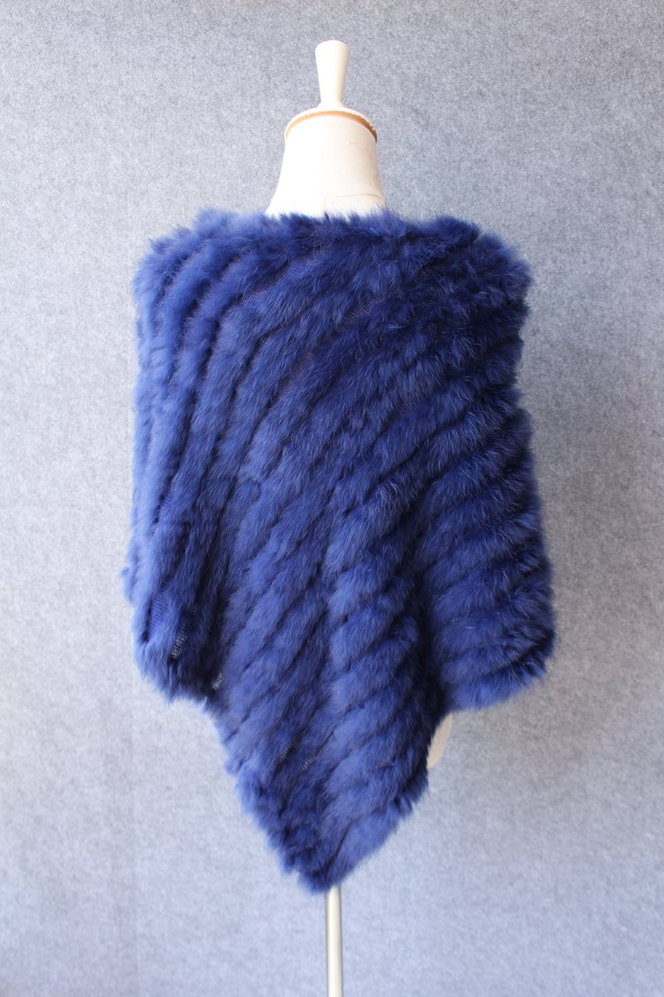 natural knitted rabbit fur scarf wraps (9)