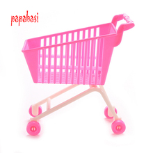 Doll shoes , doll dress for barbie Kids Mini Cute Supermarket Pretend Play Handcart Shopping Cart Mode Storage Accessores Toys