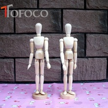 TOFOCO NEW Artist Movable Limbs Male Wooden Toy Figure Model Mannequin Art Sketch Draw Action Toy Figures 12 INCH