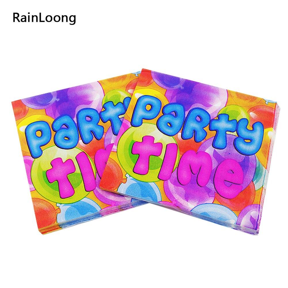 [Rainloong] бумаги papkin декупаж на день рождения события ткани салфетки Декупажные украшения бумаги 33 см 33 см 20 шт./упак. /лот(China (Mainland))