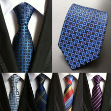 (1pieces/lot) 100% silk necktie corbatas hombre 2016 neck ties plaid mens tie slim striped men gravatas 8cm(China)