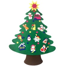 Lovely DIY Felt Christmas Tree Wall Hanging Craft Decor Tree Creative Children Gift Handmade Toys Site Decoration Props(China)