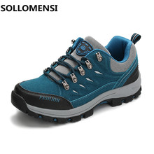 Hot outdoor waterproof slip resistant comfortable men /women hiking shoes Valentine's autumn and winter climbing shoes