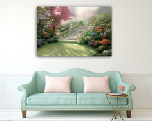 Wall Art Canvas Painting Christmas Decorations for Home Thomas kinkade Landscape Posters Prints Wall Pictures For Living Room(China)