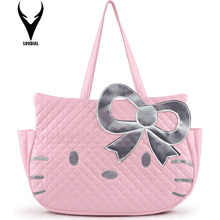 Fashion Handbags Hello Kitty Bag Women Large Capacity Handbag bolsa feminina Shoulder Bags Female Totes(China)